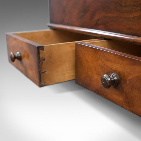 Antique Officers Chest, Victorian, Storage Box, English, Flame Mahogany, C.1850
