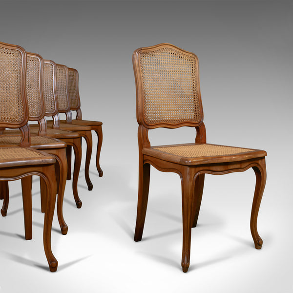 Set of Six, Antique Dining Chairs, French, Beech, Louis XV Revival, Circa 1930 - London Fine Antiques