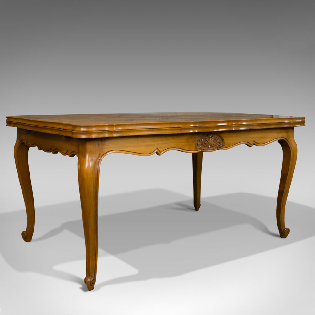 French Antique Draw Leaf Dining Table Beech Extending Louis Xv Revival C1930
