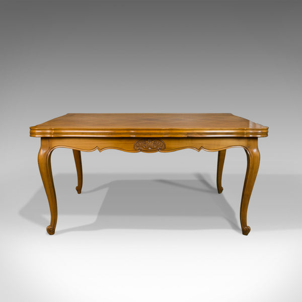 French, Antique Draw Leaf Dining Table, Beech, Extending, Louis XV Revival c1930 - London Fine Antiques