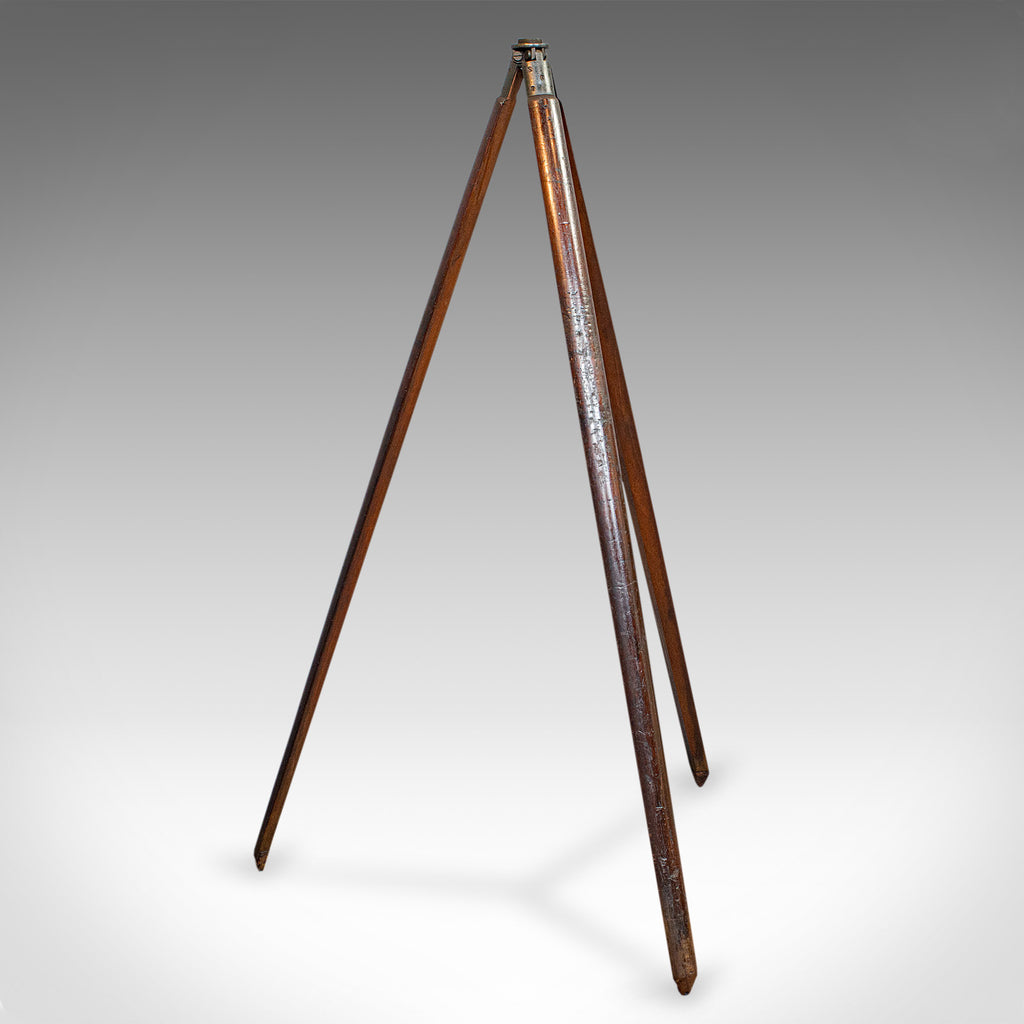 Antique Telescope Tripod, English, Mahogany, Bronze, Stand, Edwardian, C.1910