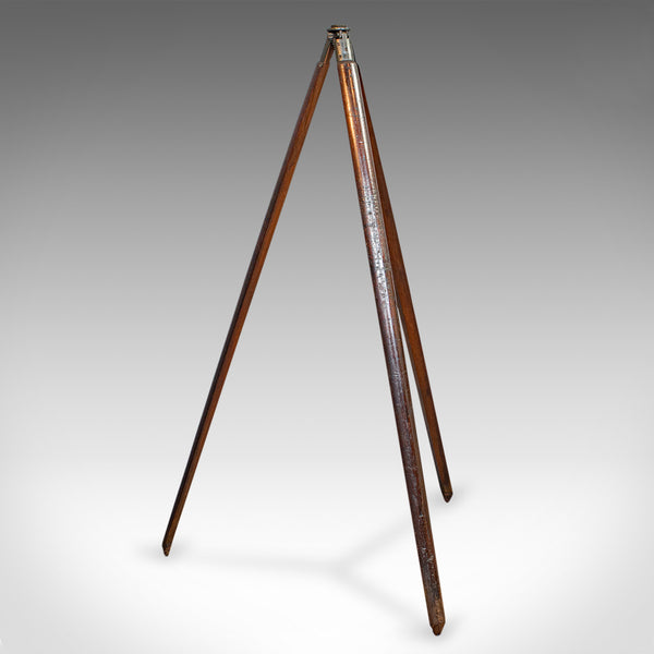 Antique Telescope Tripod, English, Mahogany, Bronze, Stand, Edwardian, C.1910 - London Fine Antiques