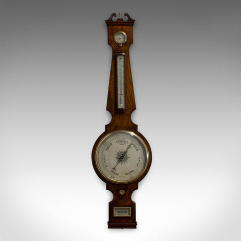 Antique Banjo Barometer, English, Mahogany, John Sowter, Oxford, Victorian - London Fine Antiques