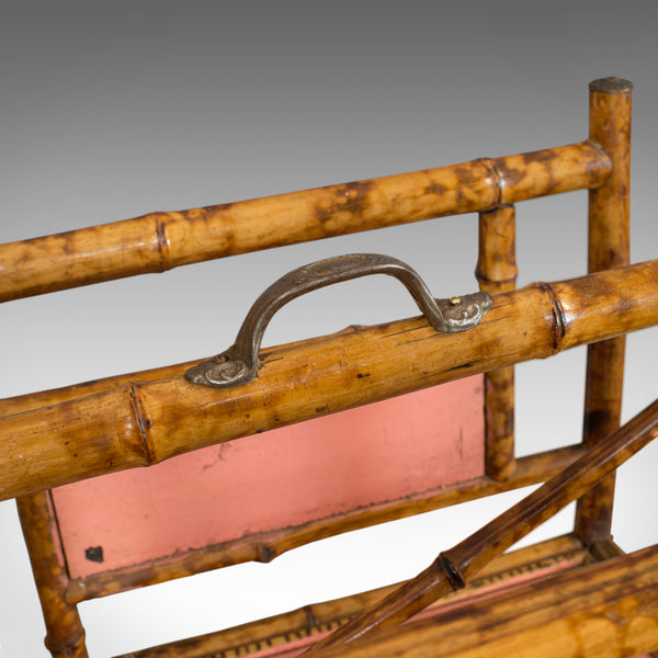 Antique Canterbury, Oriental, Bamboo, Music Stand, Magazine Rack, Circa 1880 - London Fine Antiques
