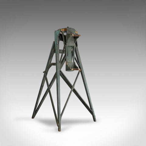 Large, Antique Telescope Tripod, English, Pine, Observatory, Rack, Circa 1900 - London Fine Antiques