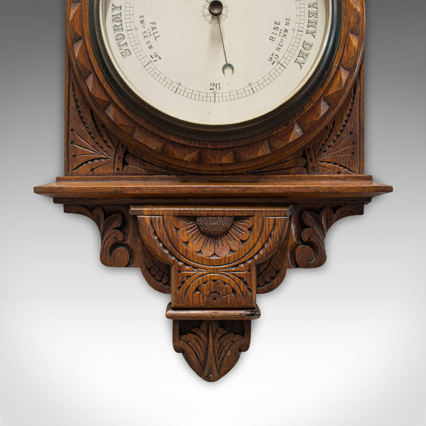 Vintage Factory Barometer, English, Oak, Banjo, Official, Factory Act 1937 - London Fine Antiques