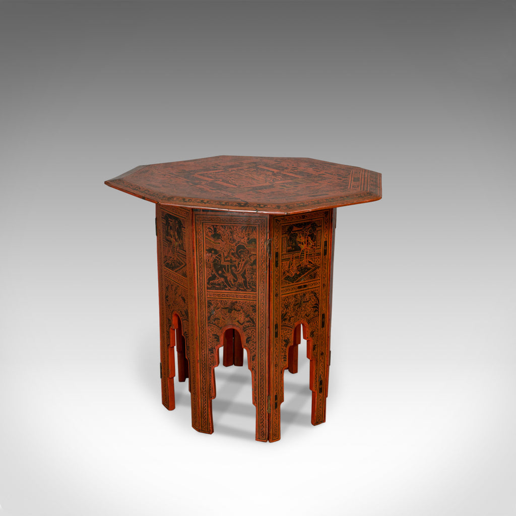 Antique Occasional Table, Victorian, Chinese Elm, Octagonal, Coffee, Moorish - London Fine Antiques