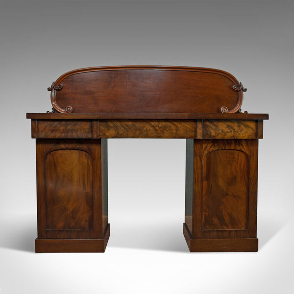 Antique Pedestal Sideboard, English, Mahogany, Dresser, Victorian, Circa 1850 - London Fine Antiques