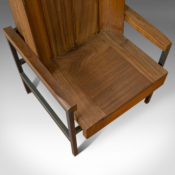 Vintage Arm Chair, English, Teak, Wing-back, Seat, Modernist Taste, 20th Century - London Fine Antiques