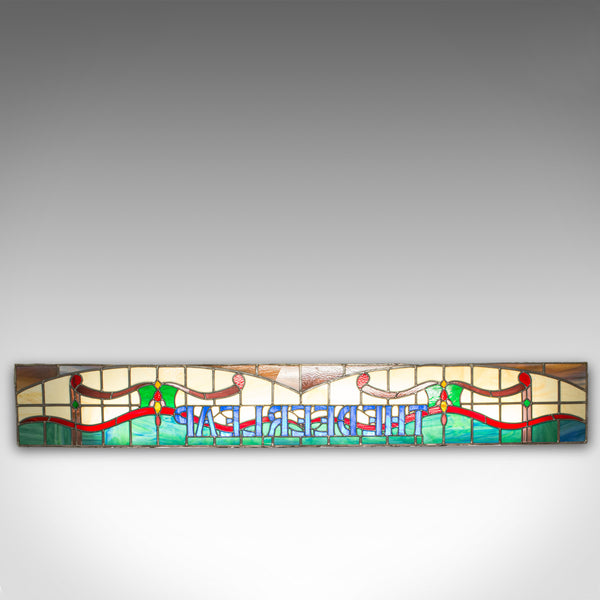 Vintage Stained Glass Window, English, Lead, Pub, Panel, Art Deco, 20th Century - London Fine Antiques