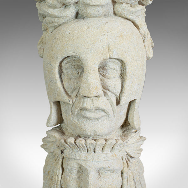 Courage, Artwork, Dominic Hurley, English, Sculpture, Bath Stone, Totem Pole - London Fine Antiques