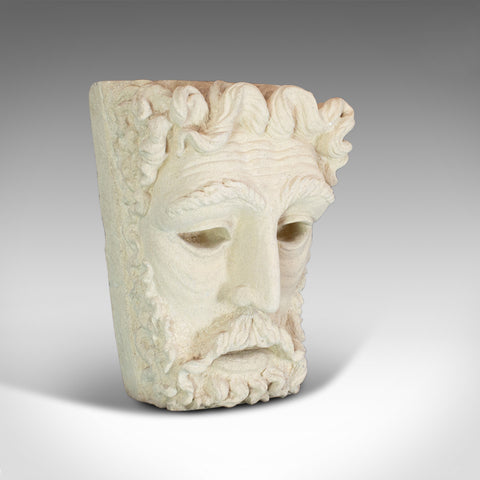 Vintage Sculpture, Poseidon, Dominic Hurley, English, Bath Stone, Greek God - London Fine Antiques