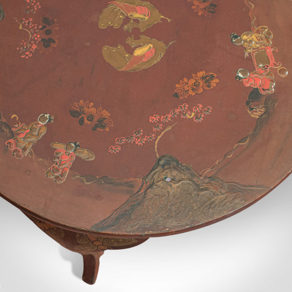 Vintage Side Table, Chinoiserie, English, Chinese Elm, Occasional, Lamp, C.1930 - London Fine Antiques