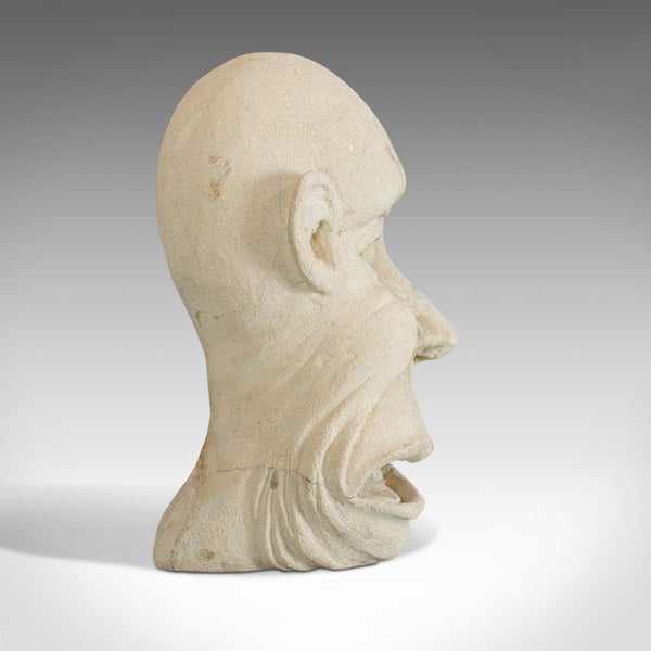 The Twisted Face Bust, Dominic Hurley, English, Bath Stone, Sculpture - London Fine Antiques