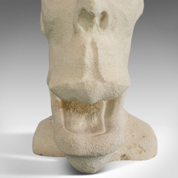 'Marvin' Sculptural Artwork, Dominic Hurley, English, Bath Stone, Bust
