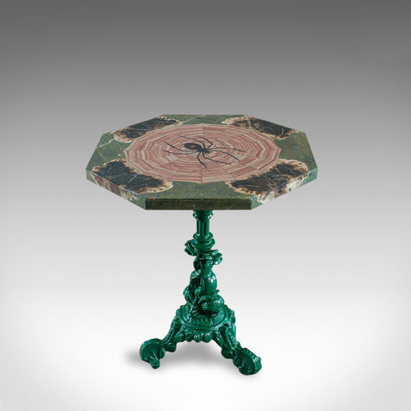 Petrified Spider Table, English, Marble, Pietra Dura, Cast Iron, Dominic Hurley - London Fine Antiques