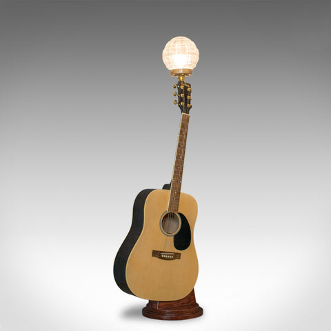Vintage, Acoustic Guitar Lamp, English, Bespoke, Handcrafted, Jim Deacon, Glass - London Fine Antiques