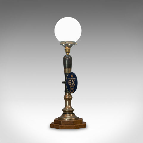Vintage Beer Pump Lamp. English, Bespoke, Handcrafted, Public House, Table Light - London Fine Antiques