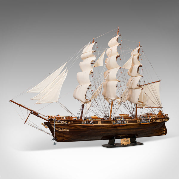 Large Vintage Model, Cutty Sark, English, Mahogany, Collectible, Ship, Display - London Fine Antiques