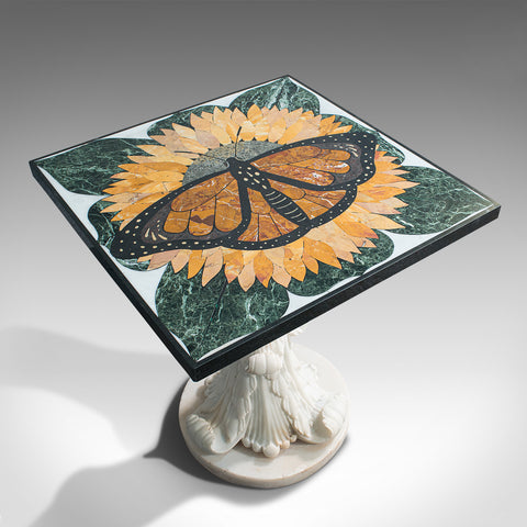 'Monarch', Vintage Butterfly Pietra Dura, English, Decorative, Wall, Table Top - London Fine Antiques