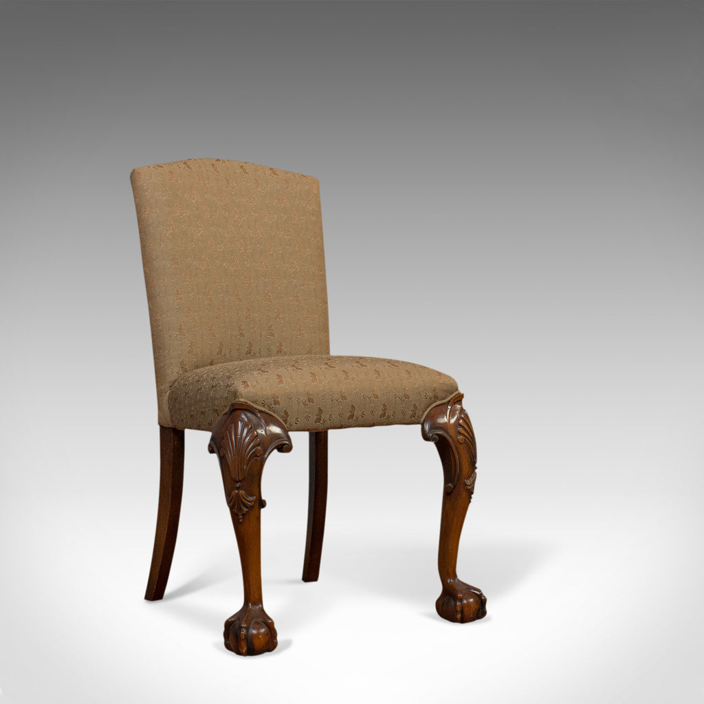 Vintage Side Chair, English, Mahogany, Georgian Revival, Drawing Room - London Fine Antiques