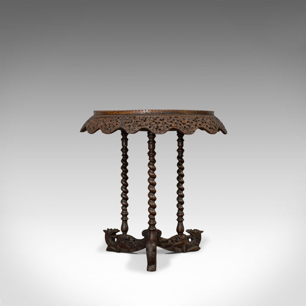 Antique Centre Table, Asian, Teak, Lamp, Occasional, 19th Century, Circa 1880 - London Fine Antiques