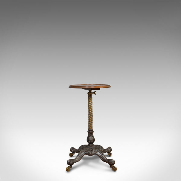 Antique Adjustable Wine Table, English, Mahogany, Cast Iron, Plant, Jardiniere - London Fine Antiques