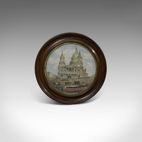 Antique Prattware Jar Lid, English, Mahogany, Ceramic, Duke of Wellington - London Fine Antiques