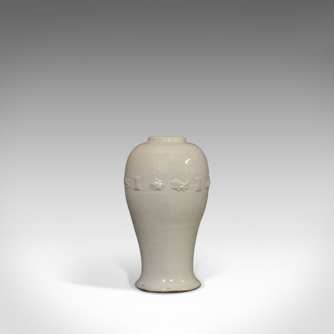 Antique Celadon Vase, Oriental, Decorative, Ceramic, Baluster, Urn, 19th Century - London Fine Antiques