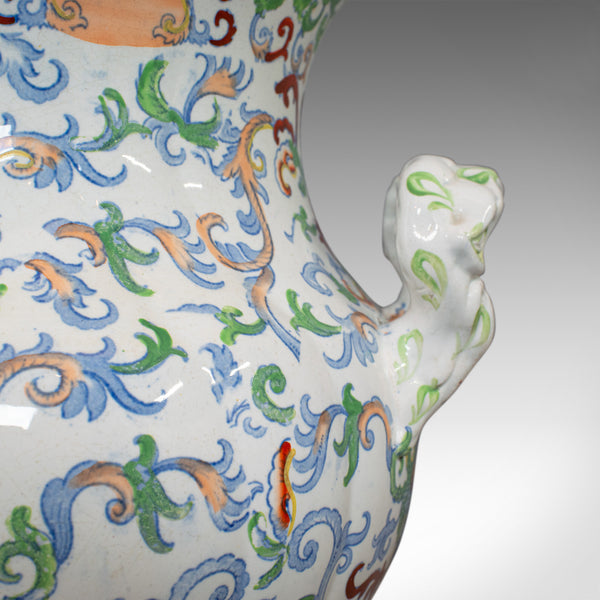 Large Vintage Vase, Oriental, Ironstone, Decorative, Pot, Centrepiece - London Fine Antiques