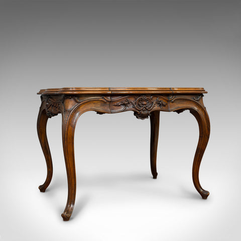 Antique Centre Table, French, Walnut, Serpentine, Occasional, Louis XV Taste - London Fine Antiques