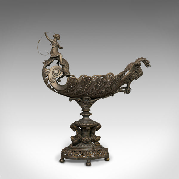 Antique Centrepiece, Classical Taste, French, Bronze Spelter, Bowl, Victorian - London Fine Antiques