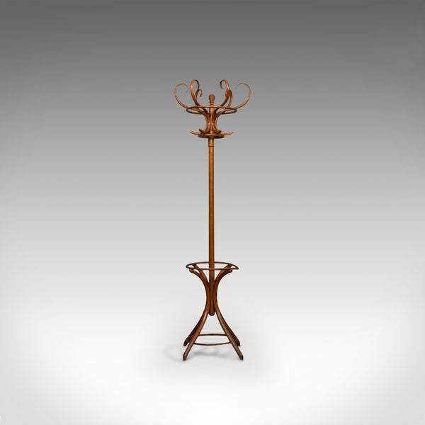Antique Bentwood Coat Rack, Hall Stand, English, Beech, Umbrella, Edwardian - London Fine Antiques