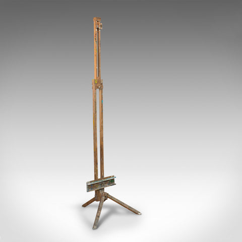 Large Vintage Artist's Easel, English, Beech, Picture, Tripod, Canvas, C.1930 - London Fine Antiques