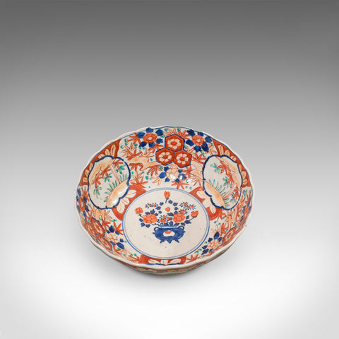 Large Vintage Imari Bowl, Oriental, Ceramic, Serving Dish, Art Deco, Circa 1940 - London Fine Antiques