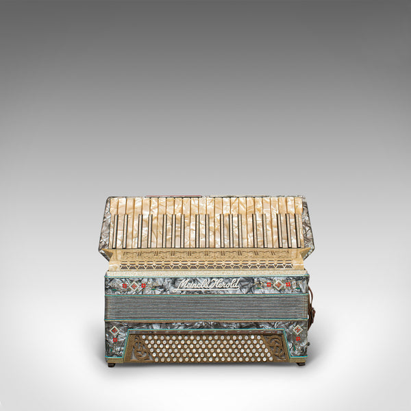 Vintage Piano Accordion, German, Squeezebox, Meinel and Herold, Dix Reeds - London Fine Antiques