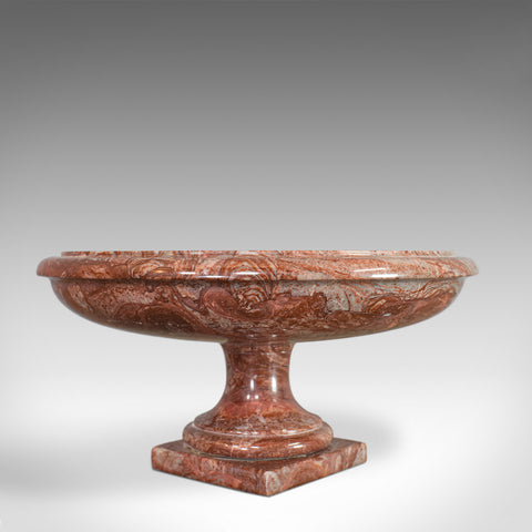 Vintage Marble Dish, English, Rosso Orobico, Decorative, Fruit Bowl, Jardiniere - London Fine Antiques