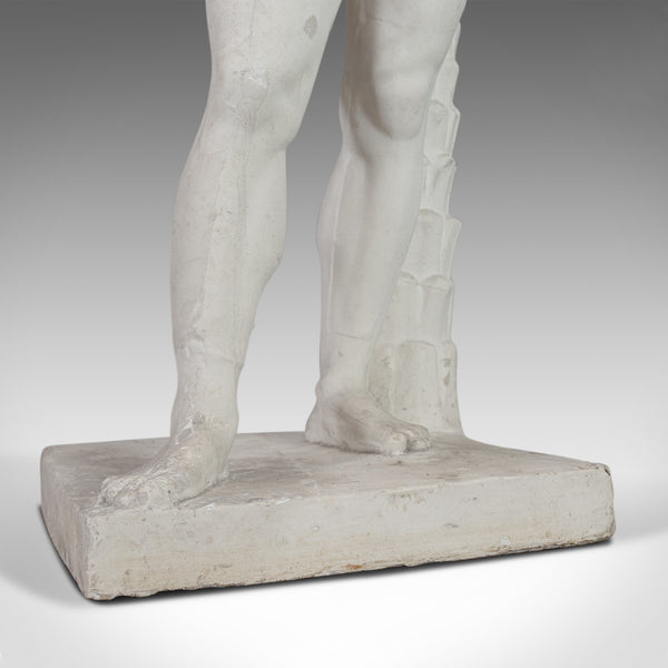 Vintage Male Statue, English, Plaster, Pose, Mournful, Classical Taste, C20th - London Fine Antiques