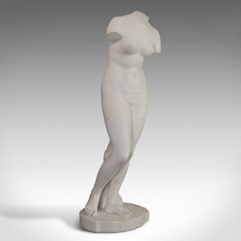 Vintage Female Bust, English, Plaster, Pose, Figure, Garden, 20th Century