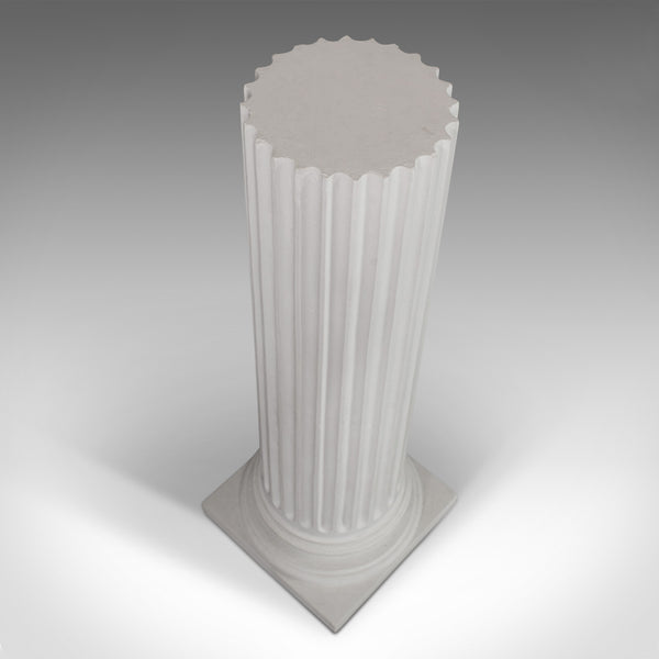 Vintage Fluted Column Base, English, Architectural, Plaster, Doric, Classical - London Fine Antiques