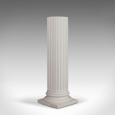 Vintage Pedestal Column, English, Architectural, Plaster, Display, Classical