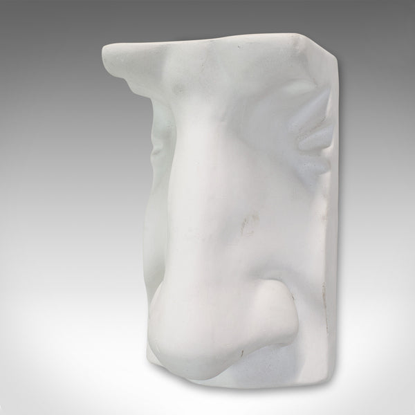 Vintage Portrait Sculpture, English, Plaster, Haut Relief, Nose, 20th Century - London Fine Antiques