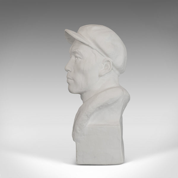 Vintage Revolutionary Male Bust, English, Plaster, Figural, Sculpture, Historic - London Fine Antiques