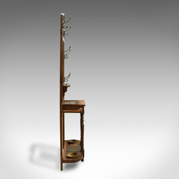 Antique Hall Stand, English, Walnut, Stick, Coat, Hat Stand, Edwardian, C.1910 - London Fine Antiques