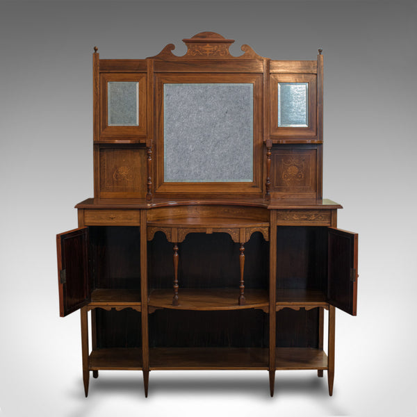 Antique Sideboard, English, Rosewood, Dresser, Boxwood Inlay, Victorian, C.1900 - London Fine Antiques