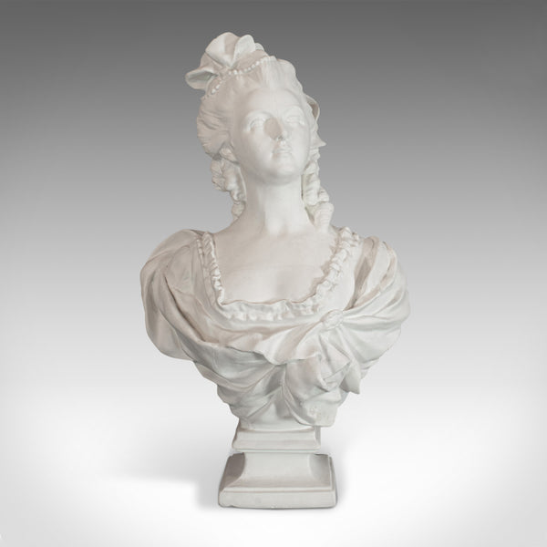 Vintage Bust, English, Plaster, Portrait, Statue, Marie Antoinette, 20th Century - London Fine Antiques