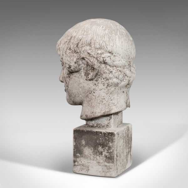 Vintage Portrait Bust, English, Plaster, Weathered, Statue, Apollo, Classical - London Fine Antiques