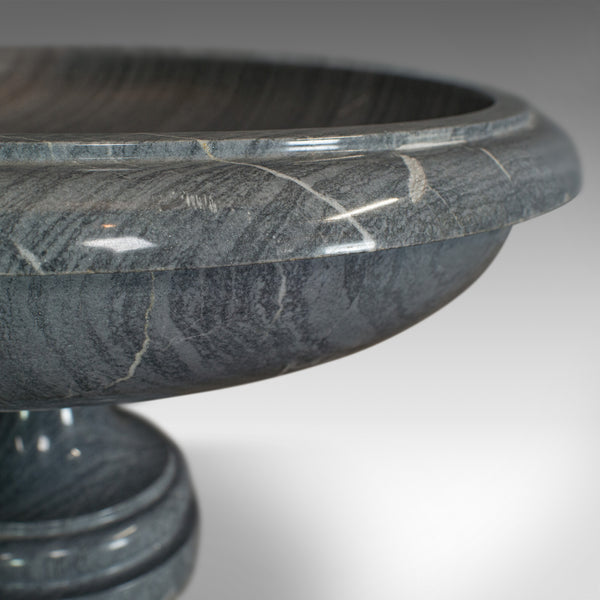 Vintage Fruit Bowl, English, Platinum Striata Marble, Ornamental, Serving Dish - London Fine Antiques