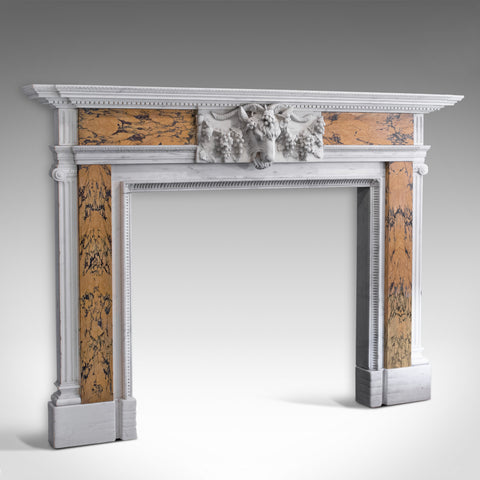Vintage Decorative Fireplace, English, Marble, Fire Surround, Dominic Hurley