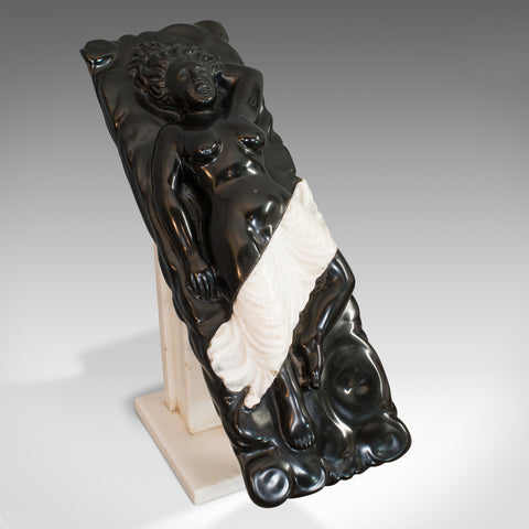 Vintage Decorative Sculpture, English, Marble, Female, Ornament, D. Hurley - London Fine Antiques